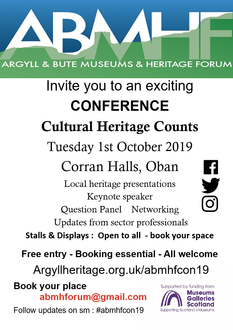 argyll and bute museums and heritage forum conference 2019